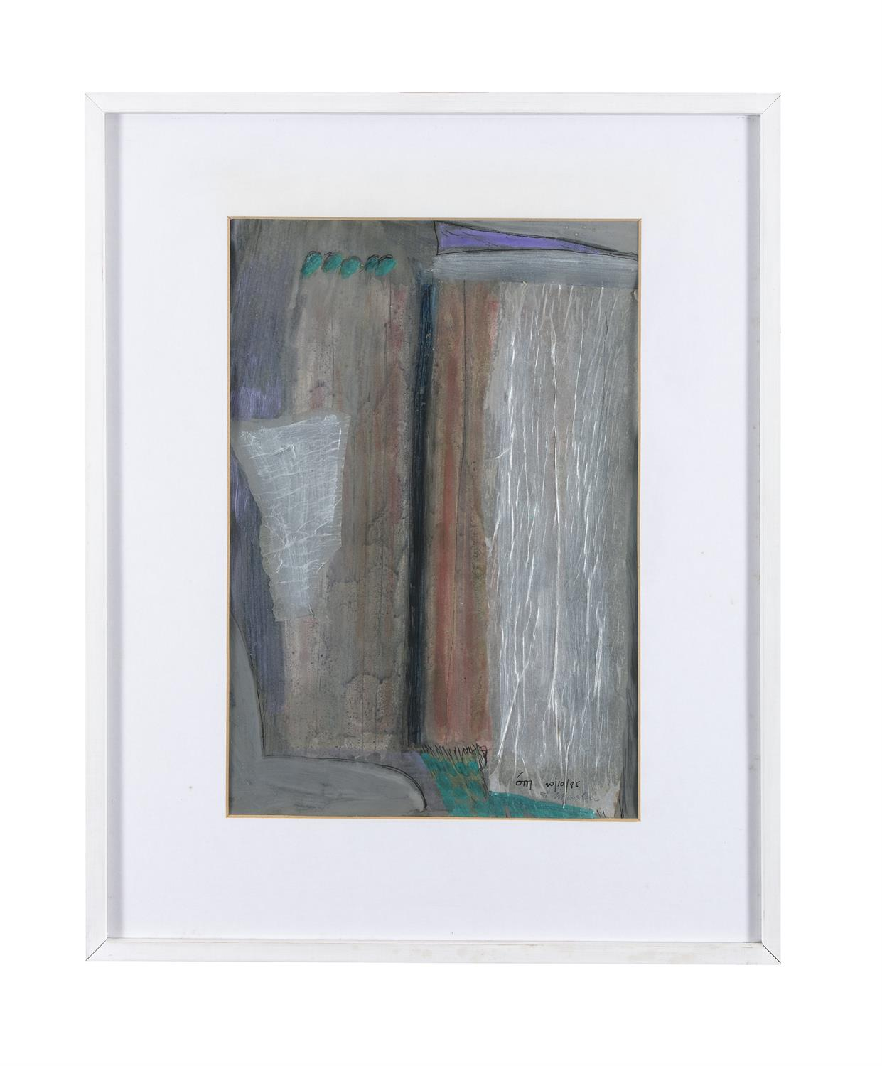"""Tony O'Malley HRHA (1913-2003) St. Martin Gouache and collage, 41.5 x 28.5cm (16¼ x 11¼"""") Signed - Image 2 of 5"""