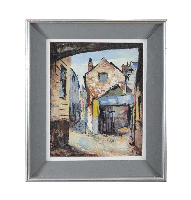 Kenneth Webb RWS FRSA RUA (b.1927) Joy's End off Ann Street Oil on canvas, 51 x 41cm (20 x - Image 2 of 5