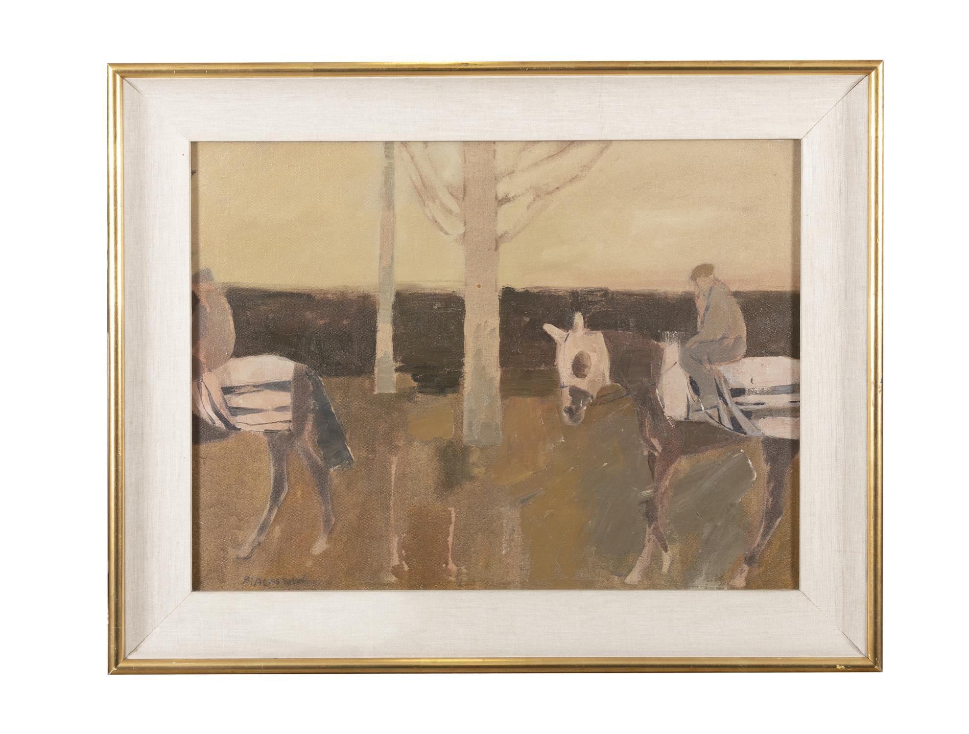Basil Blackshaw HRHA RUA (1932-2016) Exercising Race Horses Oil on canvas, 45 x 60cm (17¾ x - Image 2 of 5