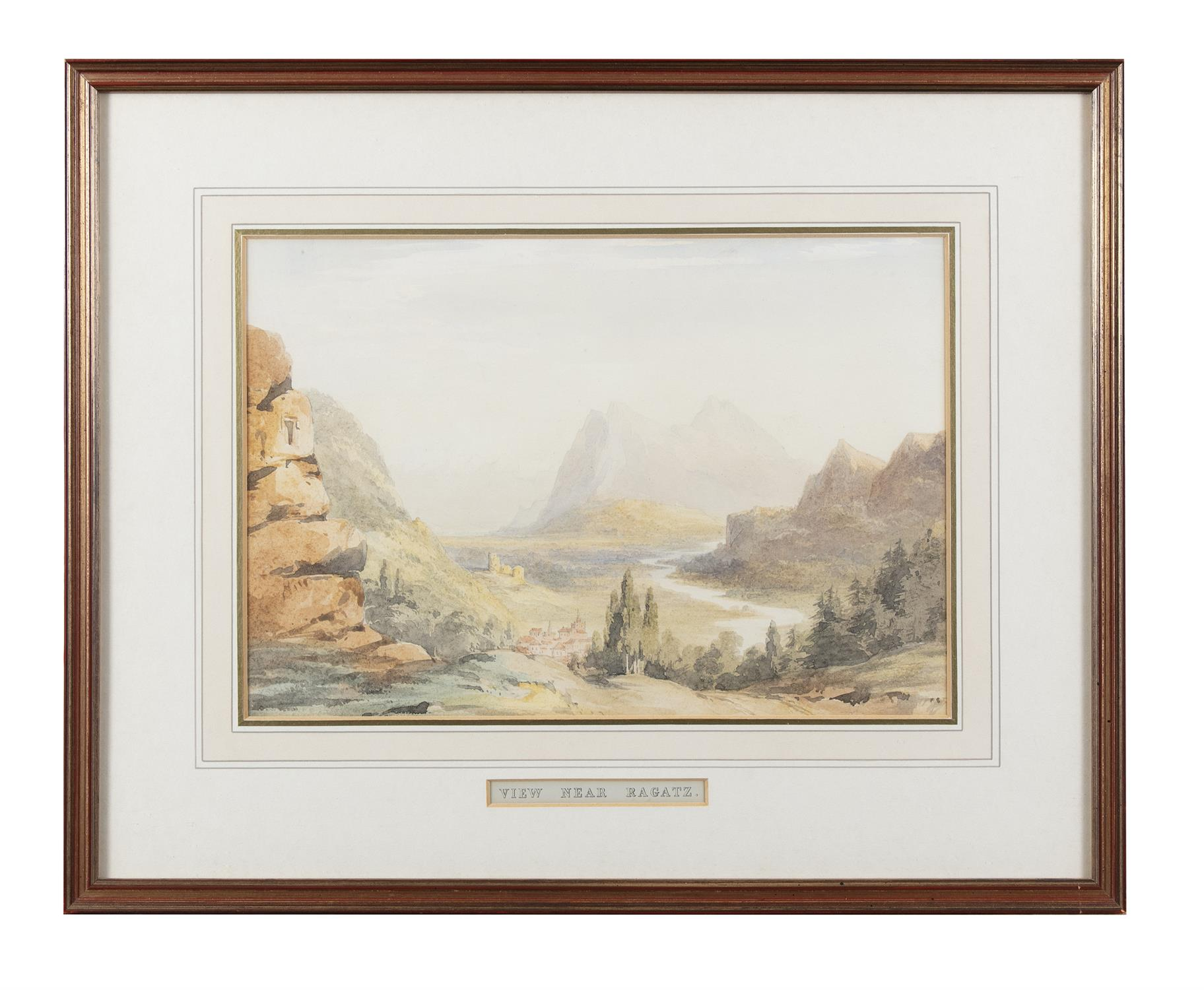 Frederick Marquis of Londonderry 'View Near Achnacarry' and 'View Near Ragatz' Three watercolours, - Image 5 of 8