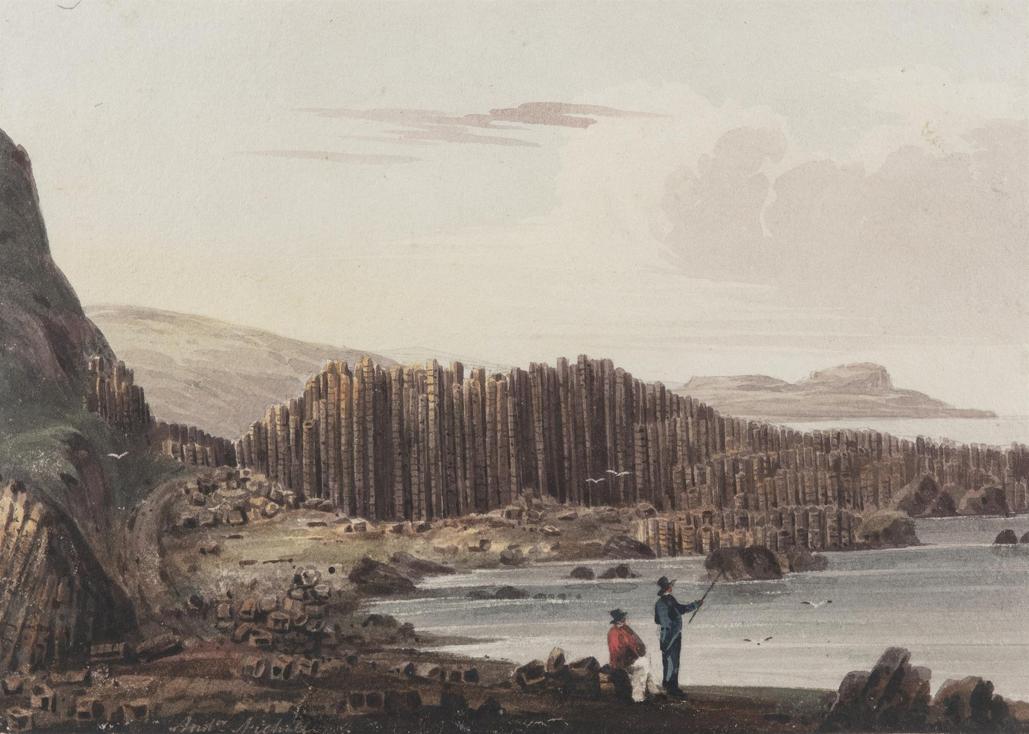 Andrew Nicholl RHA (1804-1886) The 'Loom' at the Giant's Causeway, Rocks called 'The Stookings'