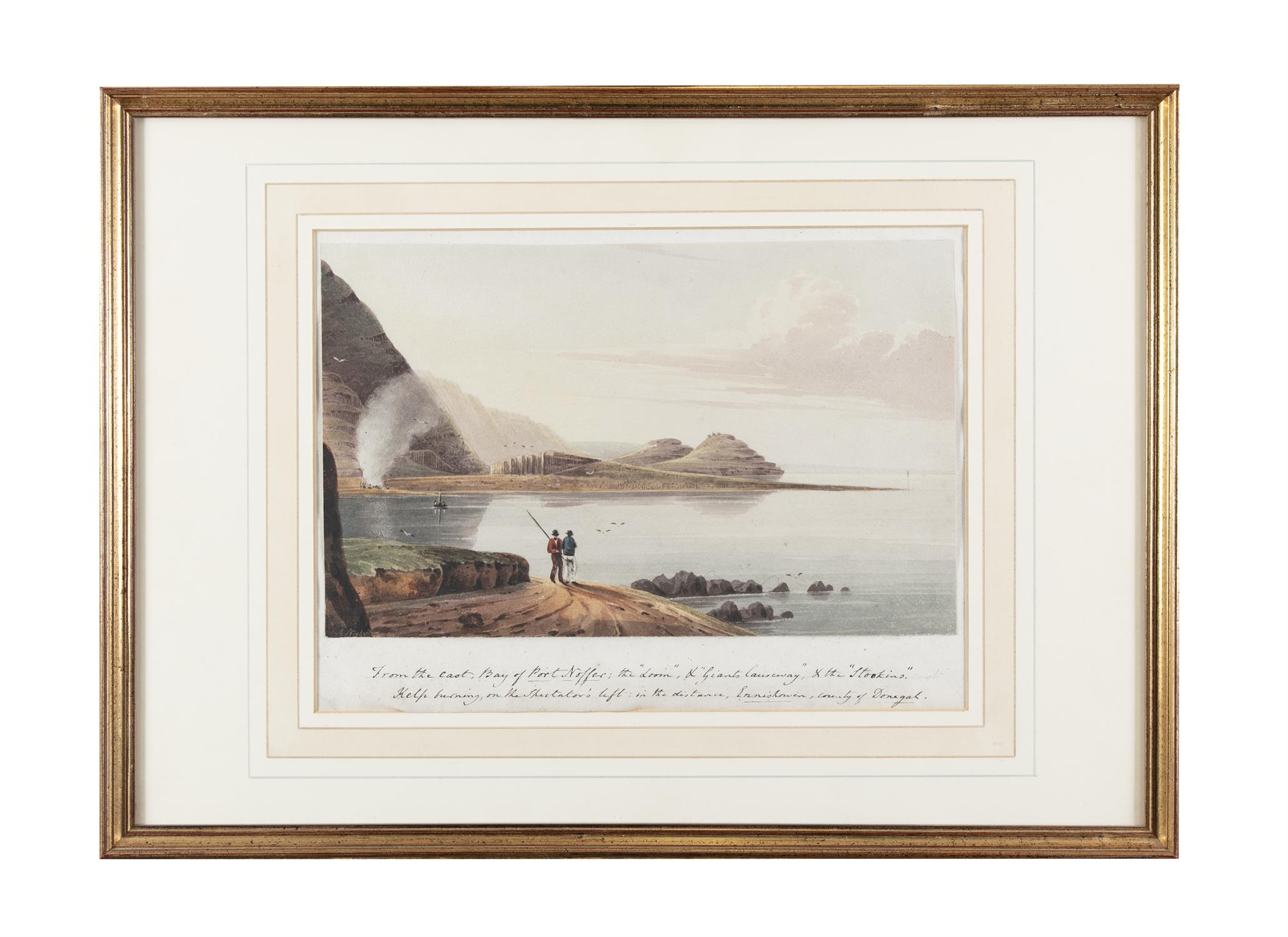 Andrew Nicholl RHA (1804-1886) From the East, Bay of Port Noffer; the 'Loom', 'Giant's Causeway' - Image 2 of 5
