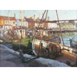 """Paul Kelly (b.1968) Evening Light, Skerries Harbour Oil on canvas, 75 x 100cm (29½ x 39¼"""") Signed"""