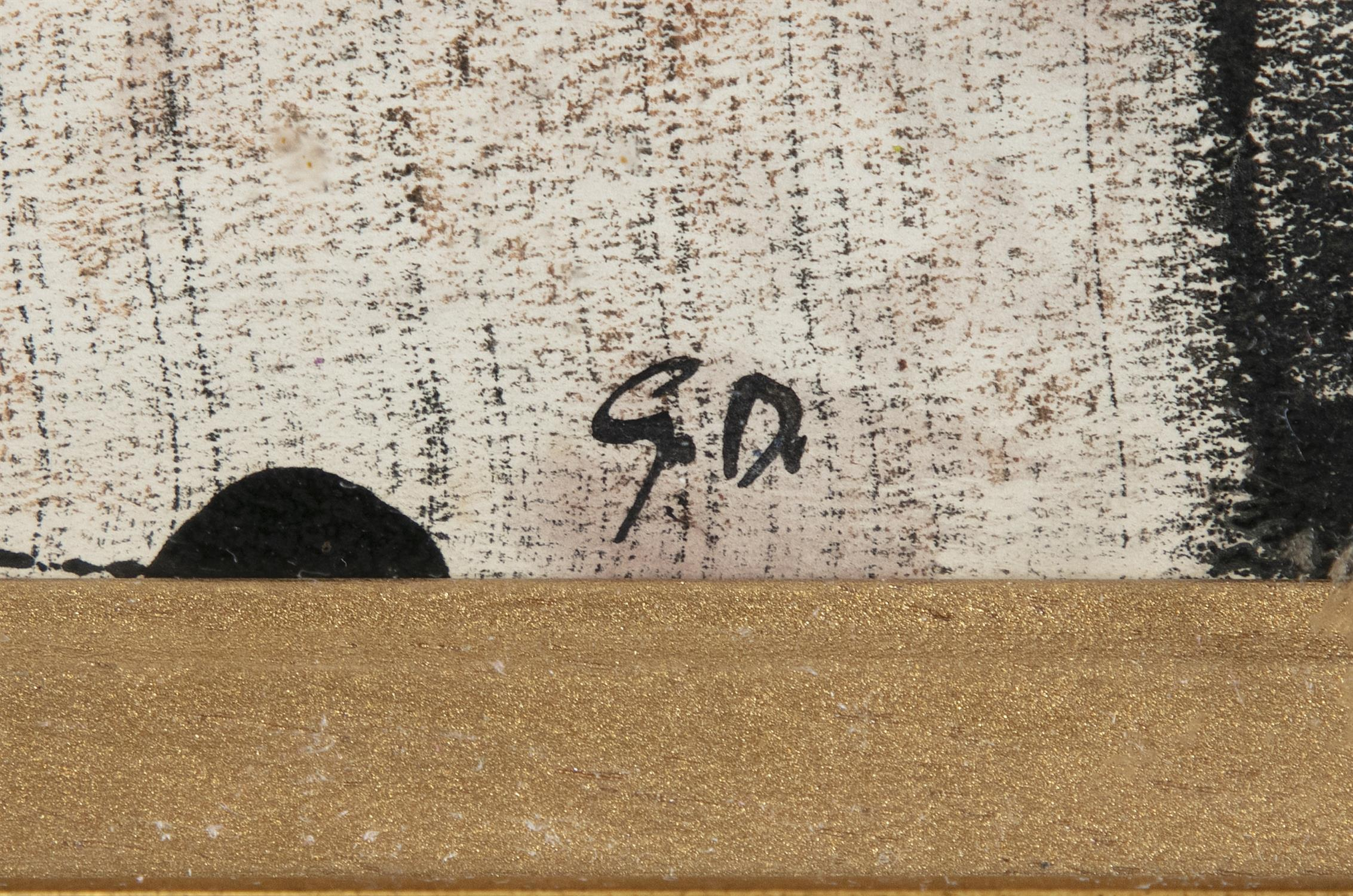 """Gerard Dillon (1916-1971) Sun Monotype, 29 x 67cm (11½ x 26½"""") Signed with initials - Image 3 of 5"""