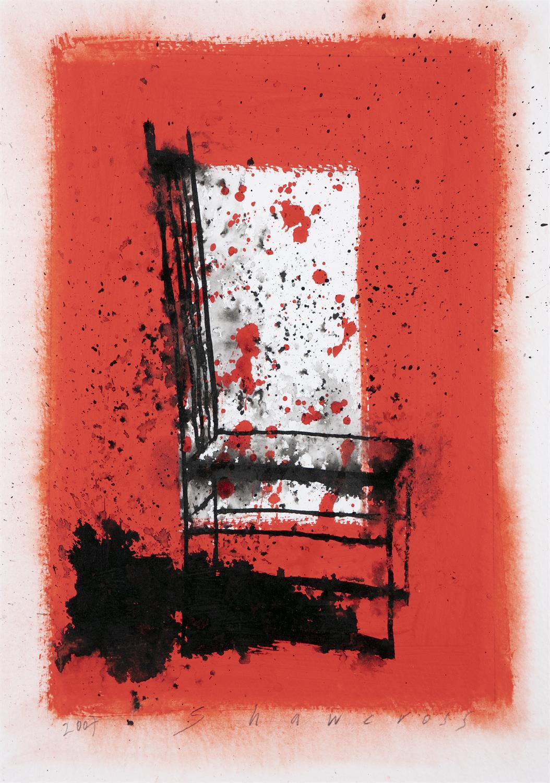 "Neil Shawcross RHA RUA (b.1940) Chair Watercolour, 32 x 23cm (12½ x 9"") Signed and dated 2007"