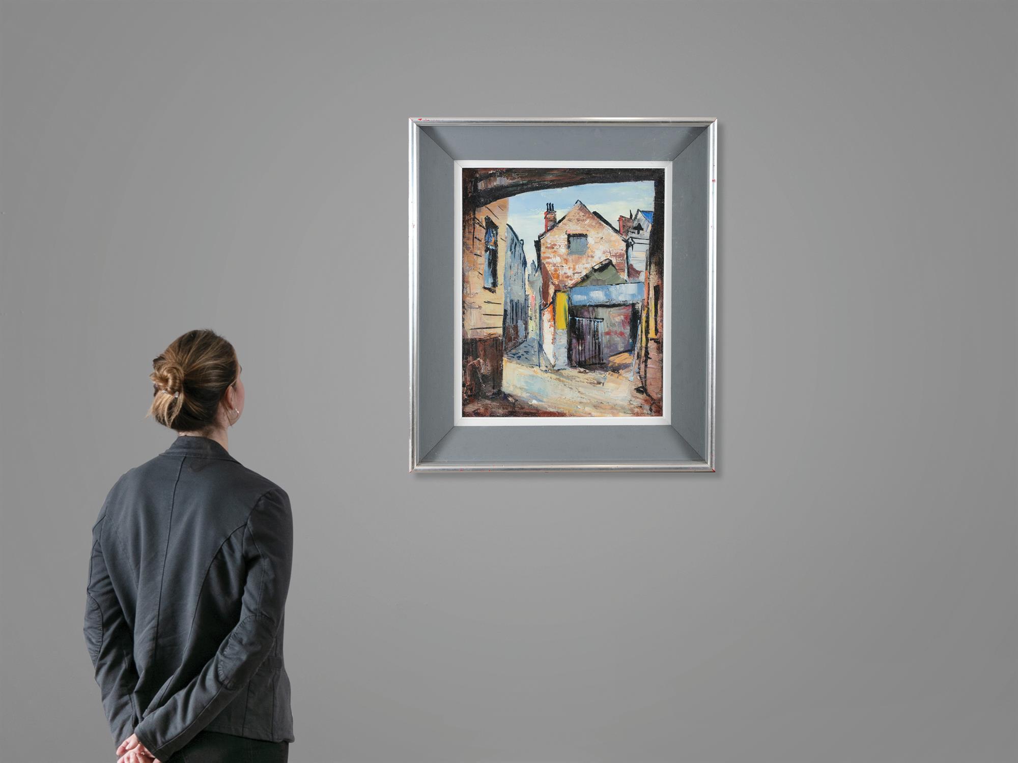 Kenneth Webb RWS FRSA RUA (b.1927) Joy's End off Ann Street Oil on canvas, 51 x 41cm (20 x - Image 5 of 5
