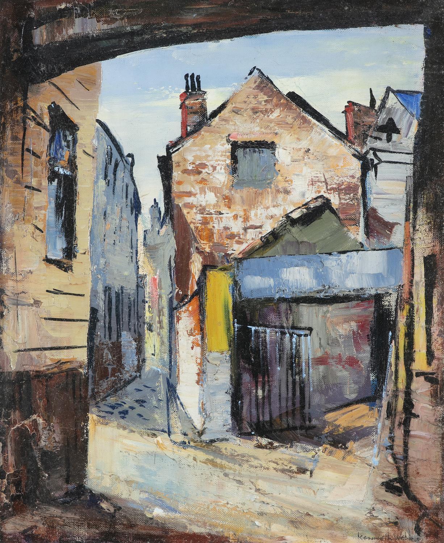 Kenneth Webb RWS FRSA RUA (b.1927) Joy's End off Ann Street Oil on canvas, 51 x 41cm (20 x