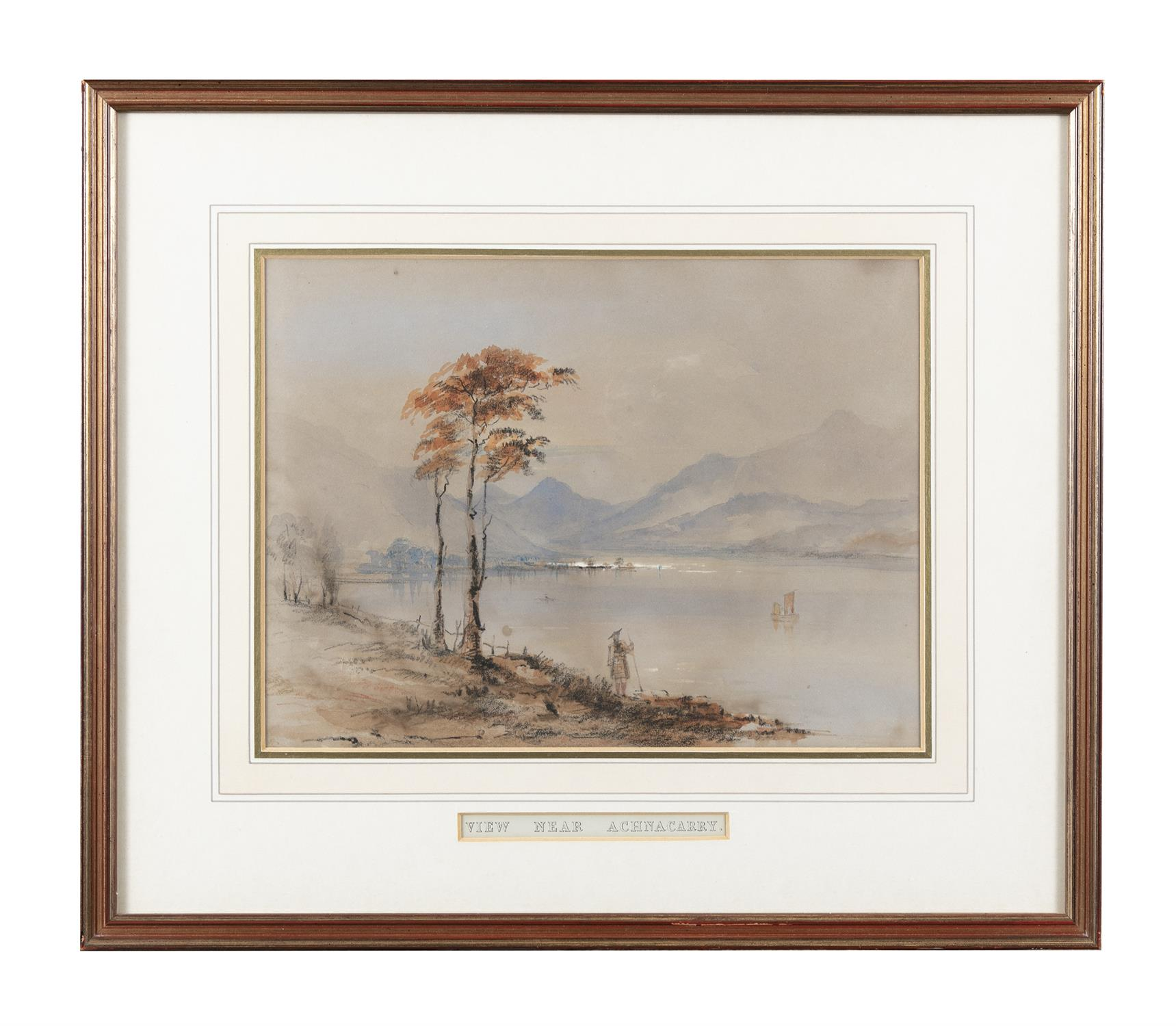 Frederick Marquis of Londonderry 'View Near Achnacarry' and 'View Near Ragatz' Three watercolours, - Image 8 of 8