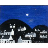 Patsy Dan Rodgers (1944-2018) My Island at Night, Tory Oil on board, 20 x 25cm (8 x