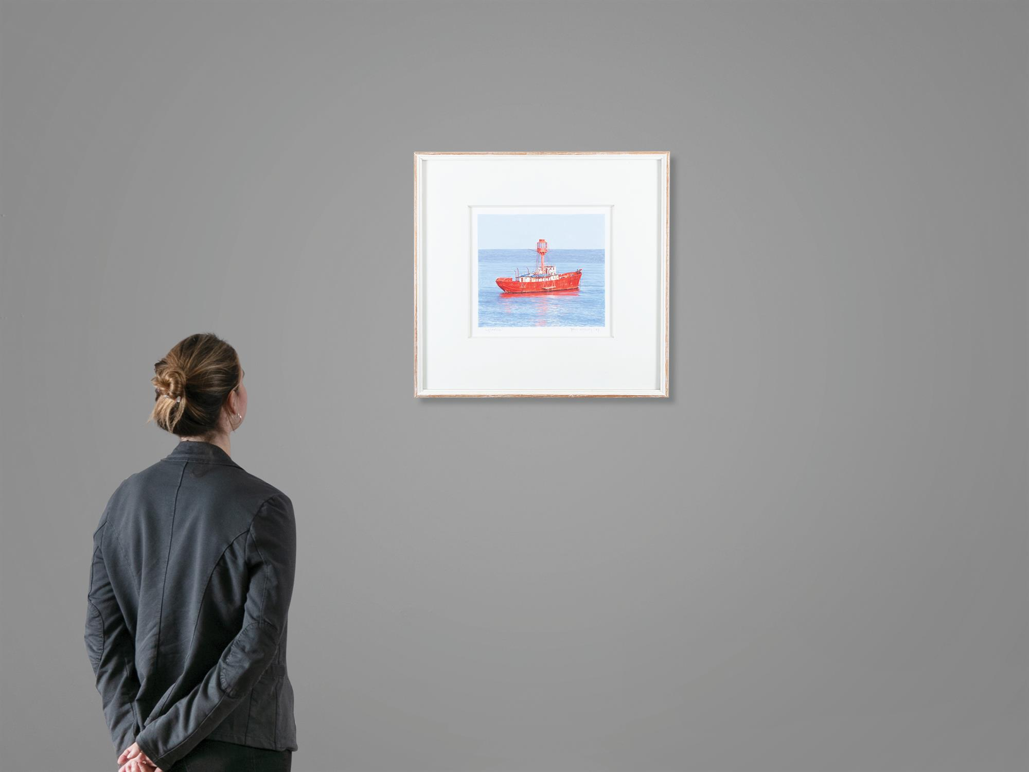 John Doherty (b.1949) Lightship Watercolour, 22.7 x 25.4cm (9 x 10'') Signed, inscribed and - Image 5 of 5