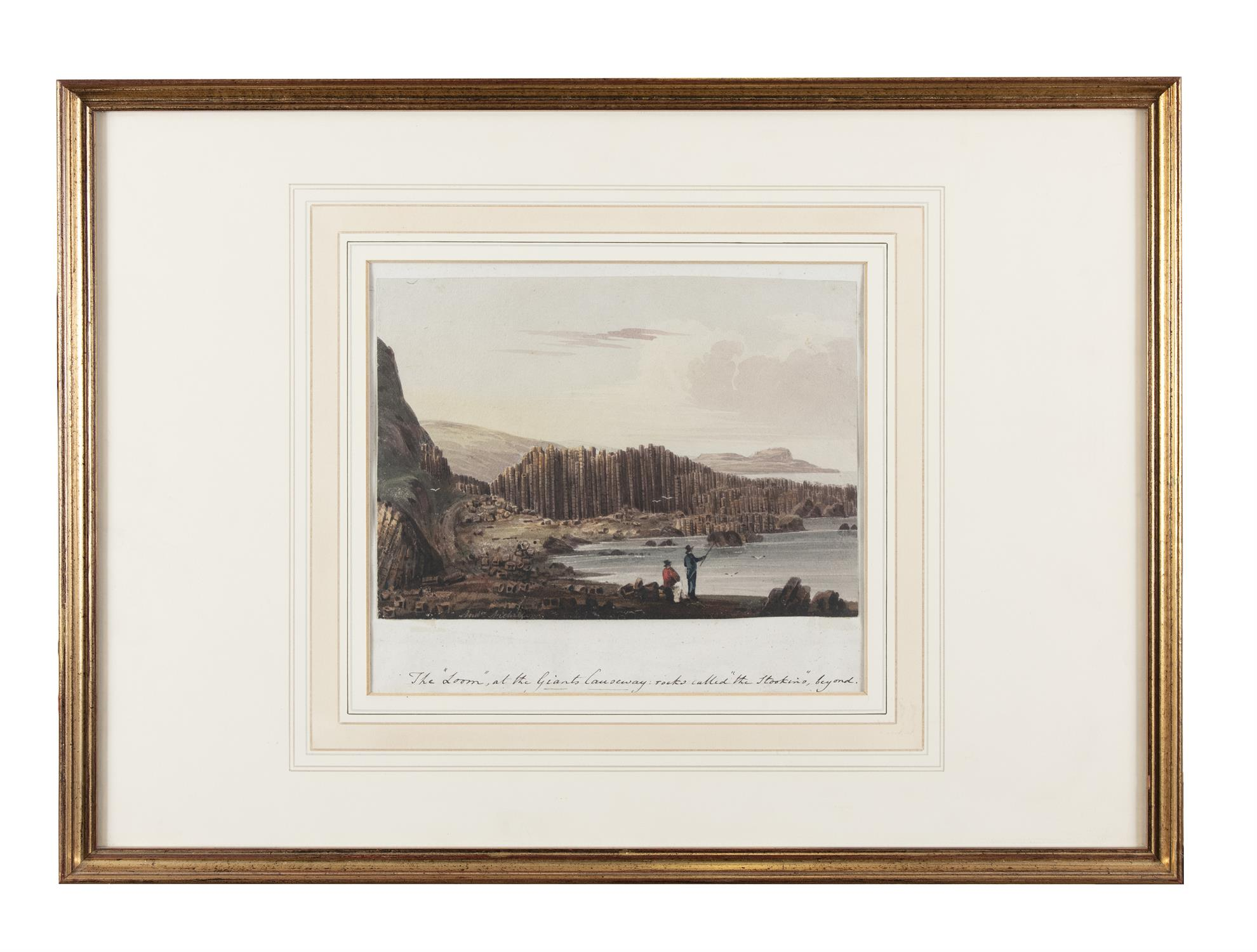 Andrew Nicholl RHA (1804-1886) The 'Loom' at the Giant's Causeway, Rocks called 'The Stookings' - Image 2 of 4