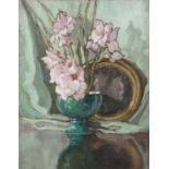 Georgina Moutray Kyle RUA (1865-1950) Still Life Study with Flowers in a Green Bowl Oil on canvas,