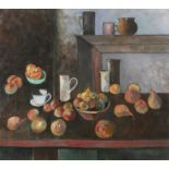 Peter Collis RHA (1929-2012) Fruit in front of Mantle Oil on canvas, 81 x 91cm (31¾ x