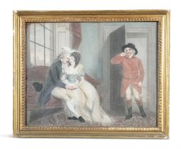 ENGLISH SCHOOL (19TH CENTURY) Domestic Scenes A pair, mezzotints, each 37 x 47cm
