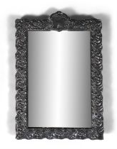 AN ART NOUVEAU SILVER DRESSING TABLE MIRROR, Birmingham c.1905, fitted with bevelled glass plate