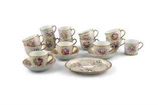 ***PLEASE NOTE THERE ARE ONLY 8 TEA CUPS AND 2 SAUCERS IN THIS LOT*** A COALPORT PART TEA SET, C.