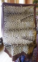 ***ADDITIONAL LOT*** A LEOPARD SKIN THROW, mounted on a brown felt backing, by Faurrures Zigal,
