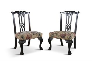 A PAIR OF MAHOGANY CHILD'S CHAIRS IN MID-GEORGIAN STYLE ATTRIBUTED TO BUTLER OF DUBLIN,