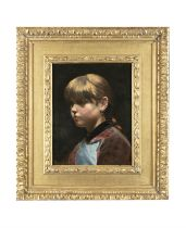 DANISH SCHOOL (19TH CENTURY) Bust portrait of a Young Girl Oil on canvas, 41 x 31.5cm