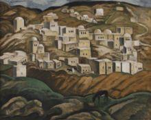André SUREDA (1872-1930) Paysage d'Orient Huile sur carton. Trace de signature en bas à droite.