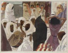 Camille Paul JOSSO (1902-1986) Dansez !, 1927 Aquarelle sur traits de crayon noir. Signée, datée,