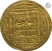 ALMOHADES. Règne d'Abu Muhammad Abd al-Mu'min (AH 524-58 / 1130-63) Demi-dinar d'or au nom du 1er
