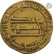 ABBASSIDES. Règne d'Al-Mahdî (158-169 H / 775-785) Dinar d'or daté 165 H 781 Poids : 4,3 g TB