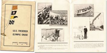 Olympic Games 1920 Report USA Cruise - Booklet U.S.S. Frederick Olympic Cruise August - September 19