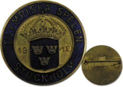 Olympic Games Stockholm 1912 badge Pin - Official badge for the Olympic Games in Stockholm 1912, ins