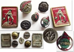 Spartakiade 1928 - 1934 - Seven badges from the Spartakiads from 1928 to 1934. Including R.H. (Red h
