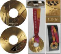 """Winner Gold Medal: Olympic Games Torino 2006 - Official winner medal """"XX. Olympic Wintergames Torino"""