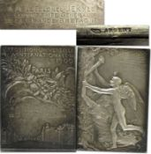 Olympic Games 1900. Official Plaque SILVER engrav - Official participation plaque for officials and