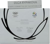 Olympic Games Rio 2016 Bronze medal Diploma - Official winner diploma for the Olympic Summer Games i