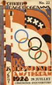 Programme: Olympic Games 1928 Opening Ceremony - Official daily programme for the Opening Ceremony o