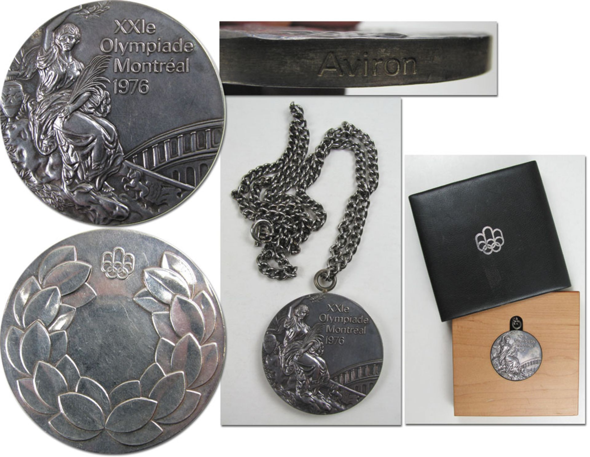 Olympic Games Montral 1976. Silver Winner's medal - Original silver medal from the Olympic Games in  - Image 2 of 2