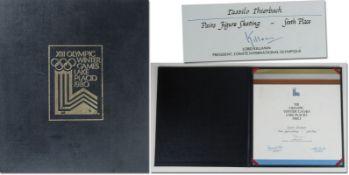 Olympic Games Lake Placid 1980 Medal Folder - Original folder for a winner diploma of the Olympic Ga