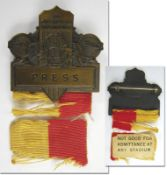 Olympic Games 1932. Participation badge Los Angel - Participation Badge: Olympic Games 1932 Los Ange
