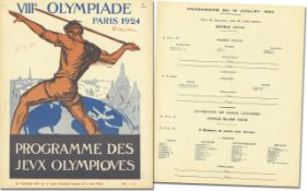 Olympic Games Paris 1924 Official Programm Rowing - Official daily programme VIIIth Olympiade Paris