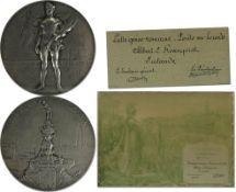 Silver Winner´s medal Olympic Games 1920  Antwerp - Silver medal from the VIIth Olympic Games in Ant