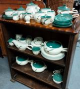 """Approximately forty items of Denby """"Green Wheat"""" pattern dinner & tea ware."""