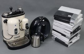 A Kitchenaid coffee maker; a Delonghi ditto; a small radiator; & ten Night Zone Egyptian cotton