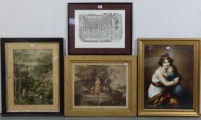 Various decorative pictures – most Bath views.