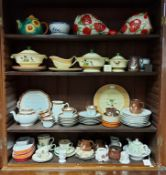 Various items of decorative china, pottery, & glassware, part w.a.f.; together with various items of
