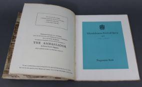 """Six """"Glyndebourne Festival Opera"""" programme books (1957, 1959, 1962, 1964, 1966, & 1968); together"""
