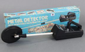 A Micronta metal detector, boxed.