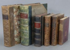 """Two 19th century leather-bound volumes by Mrs Ellis """"The Daughters of England"""" & """"The Women of"""
