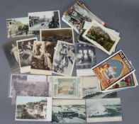 Fifty-seven loose postcards, early-late 20th century – British & foreign views, etc.