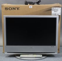 """A Sony """"Bravia"""" 23"""" LCD television with remote control, boxed, w.o."""