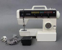 A Jones electric sewing machine (model VX541), w.o.