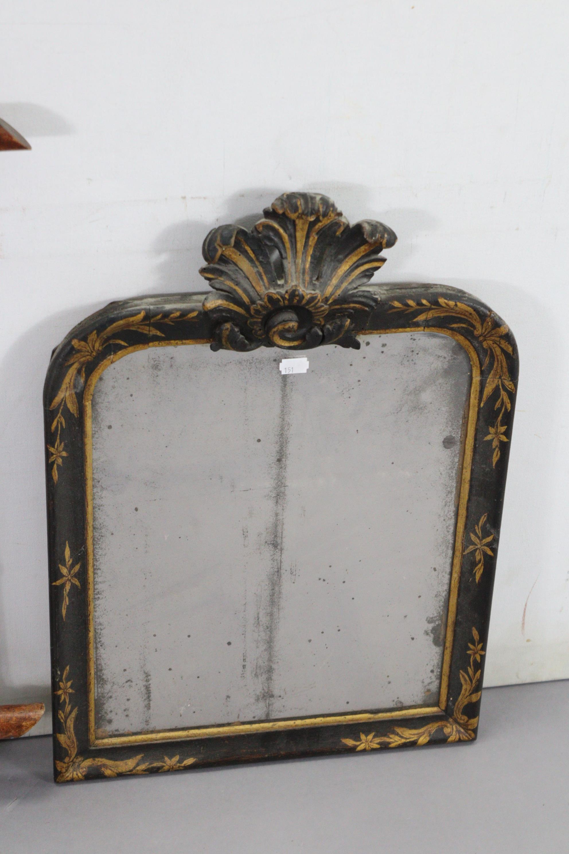 """A continental-style gilt frame pier glass, 31"""" x 16""""; together with two rectangular wall mirrors. - Image 5 of 10"""